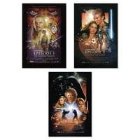 Star Wars: Episode I, II & III - 3 Piece Movie Poster Set (Regular Styles) (Size: 24'' x 36'' each)
