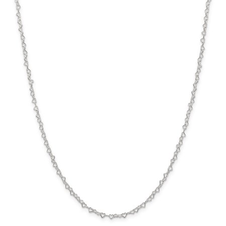 Fancy Heart Link Necklace - 925 Sterling Silver 3.5mm Heart Cuban Link Chain Necklace Pendant Charm Fancy Fine Jewelry Ideal Gifts For Women Gift Set From Heart