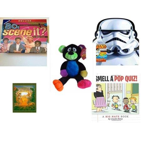 Children's Gift Bundle [5 Piece] -  80'S Scene It? The Deluxe DVD Trivia  - Crayola Storm Trooper Art Case  - Sugarloaf s Rainbow Black Bear  16