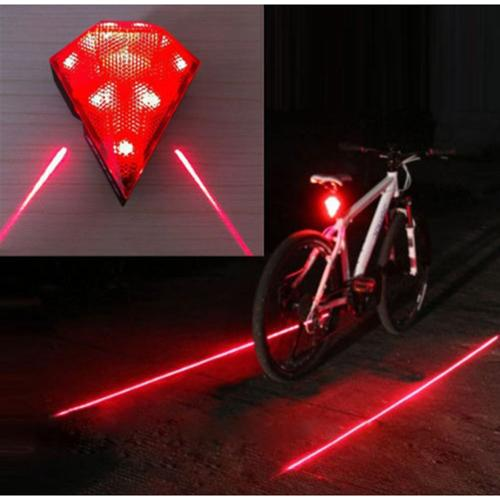 AGPtEK Waterproof USB 8 LED Cycling Laser Taillight Bike Rear Security Light Red