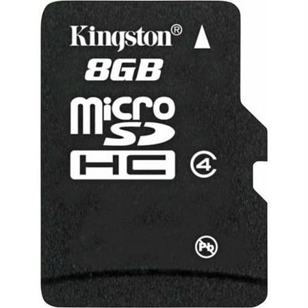 - Kingston 8GB microSDHC Flash Memory Card