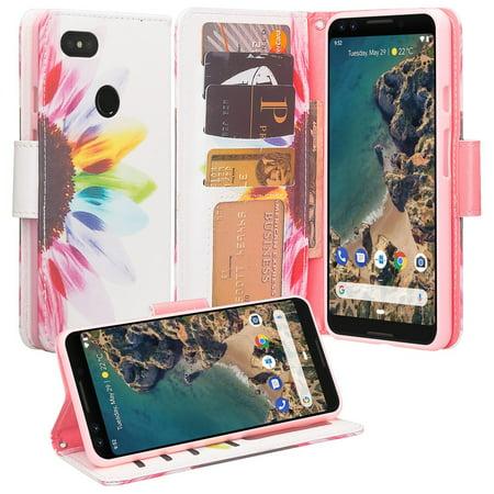 various colors 34276 bd764 Google Pixel 3 XL Case, Pixel 3 XL Leather Wallet Case, Luxury Cash Credit  Card Slots Holder Carrying Flip Cover & Kickstand -