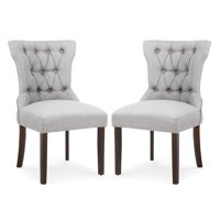 Poly and Bark Odessa Dining Chair in Light Grey (Set of 2)