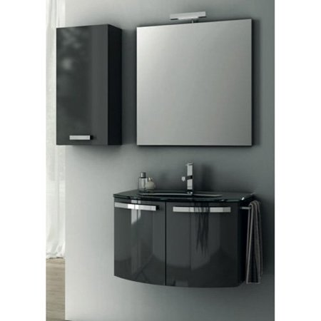 ACF by Nameeks ACF CD04-GA Crystal Dance 28-in. Single Bathroom Vanity Set - Glossy Anthracite