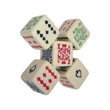 Dice, 5 Poker Playing Dice By Poker