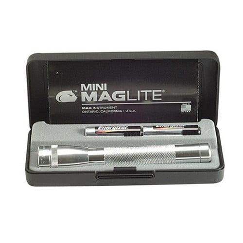Mini MagLite AA Flashlight with Presentation Box, Silver