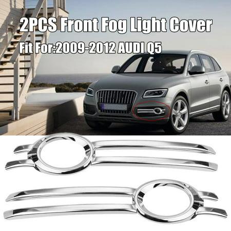 For 2009-2012 AUDI Q5 Chrome Front Bumper Fog Grill Light Cover Trim Garnish Car Protector (Chrome Bumper Garnish)