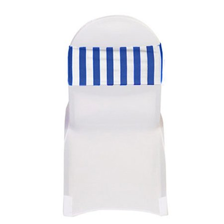 Phenomenal Your Chair Covers Spandex Striped Chair Bands Royal Blue White Pack Of 10 For Wedding Party Birthday Patio Etc Caraccident5 Cool Chair Designs And Ideas Caraccident5Info