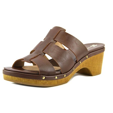 b1731a6c35fb Naturalizer - Gramercy Women Open Toe Synthetic Brown Platform Sandal -  Walmart.com
