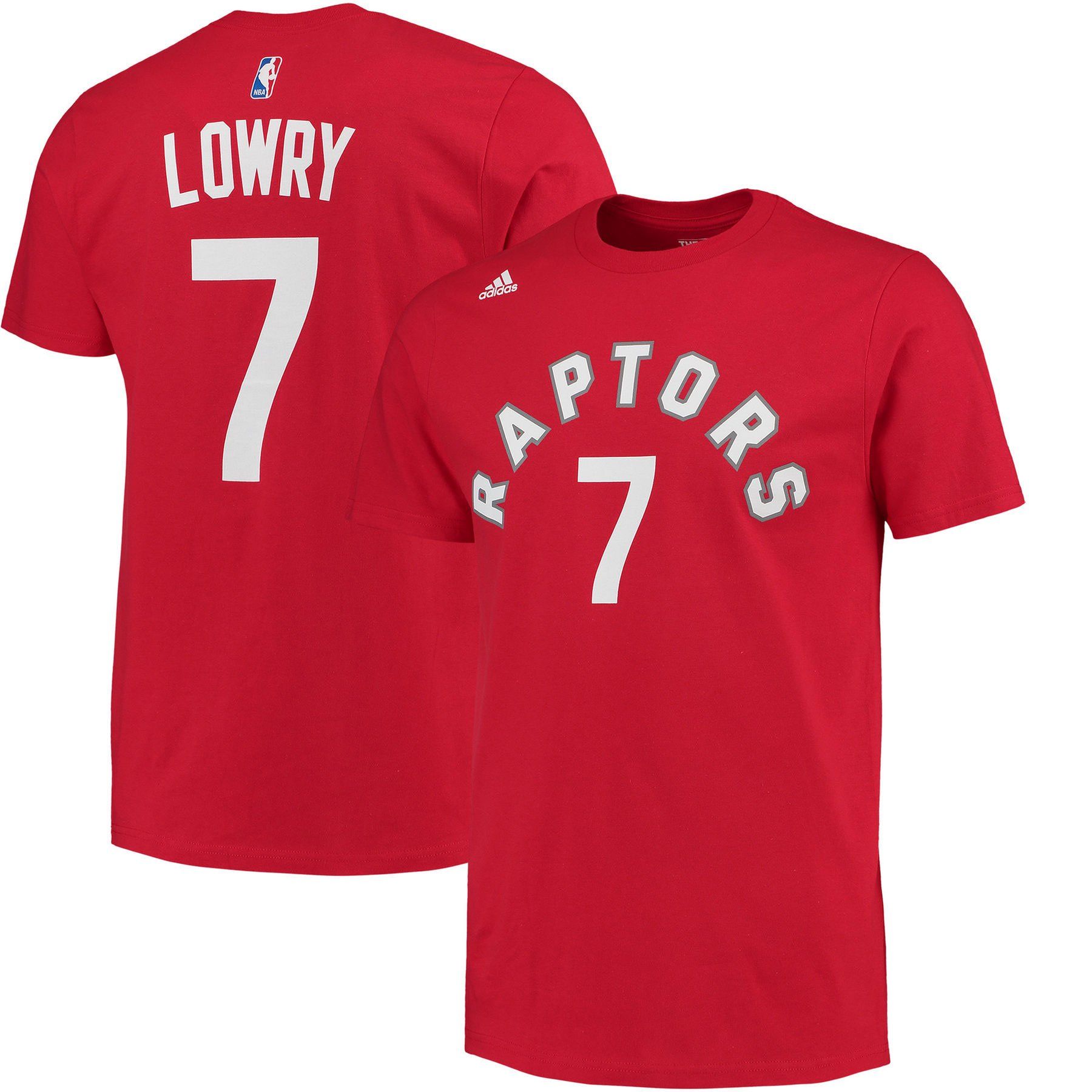 95ed0267db69 Toronto Raptors Kyle Lowry NBA Name   Number T-Shirt - Red - Adidas ...