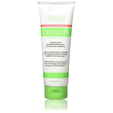 Advanced Clinicals 8oz Cellulite Gel for Tummy, Hips, Arms, Thighs Body. Best Cellulite Gel & Slimming Cream with Seaweed Extract.
