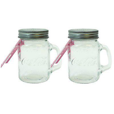 TableCraft Coca-Cola / Coke Mason Jar Salt & Pepper Shaker Set (Coke Salt Shaker)