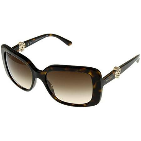 Bvlgari Sunglasses Womens Havana Square BV8146B 504/13 Size: Lens/ Bridge/ Temple: 55-17-140