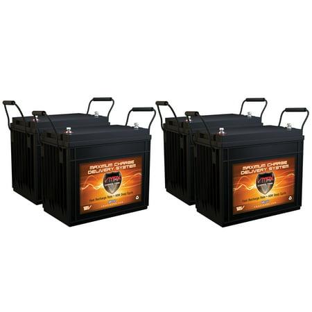 QTY4 VMAX MR147-155 12V 155AH AGM Deep Cycle Batteries for Minn Kota® E-Drive Electric Outboard 48V 2HP Pontoon Trolling