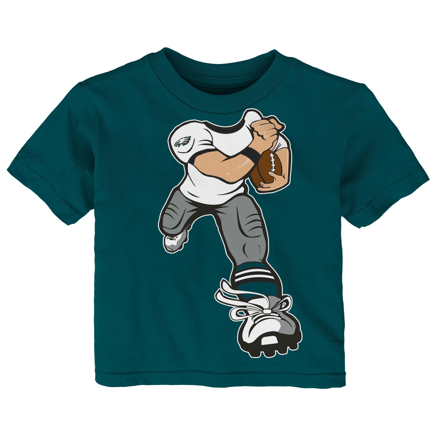 Philadelphia Eagles Toddler Yard Rush T-Shirt - Midnight Green