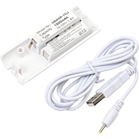 Helicopter 2.4 Ghz Metal - 2.4 Volt Nickel Metal Hydride Replacement Video Game Battery for Nintendo WII Controller