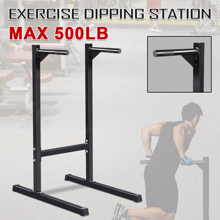 Heavy Duty Dip Stand Parallel Bar Bicep Triceps Home Gym Dipping Station Dip Bar/Power (Best Adjustable Dip Station)