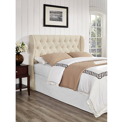 York King/California King Tufted Wing Headboard, Linen