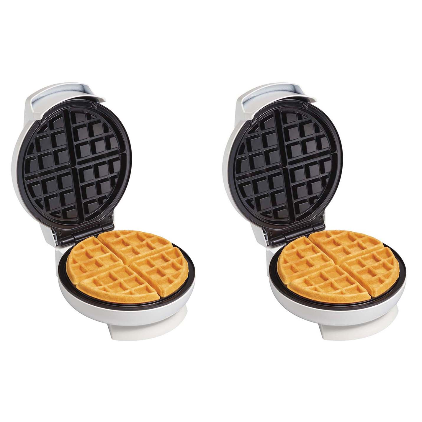 2-Pack Proctor Silex Counter Non-Stick Belgian-Style Waffle Makers 2 x 26070