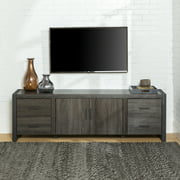 """Walker Edison Metal and Wood TV Stand for TVs up to 78"""" - Charcoal"""