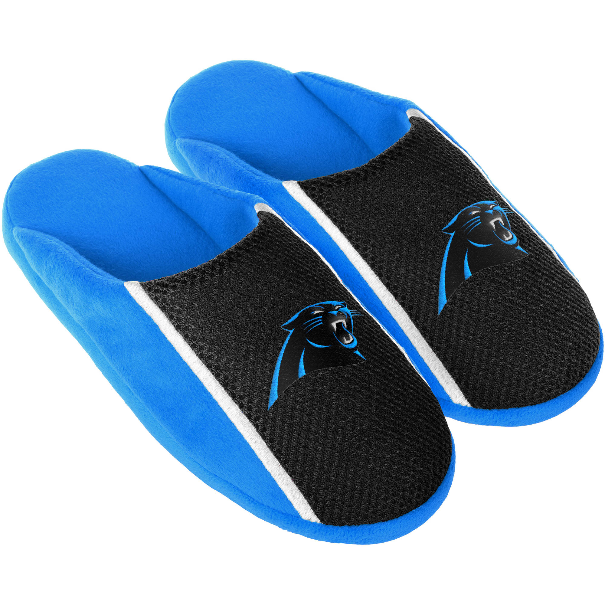 Carolina Panthers Men's Jersey Slide Slipper by Forever Collectibles