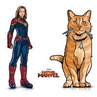 Warp Gadgets Bundle - FigPin - Marvel: Captain Marvel & Mini FigPin Goose The Cat (2 Items)