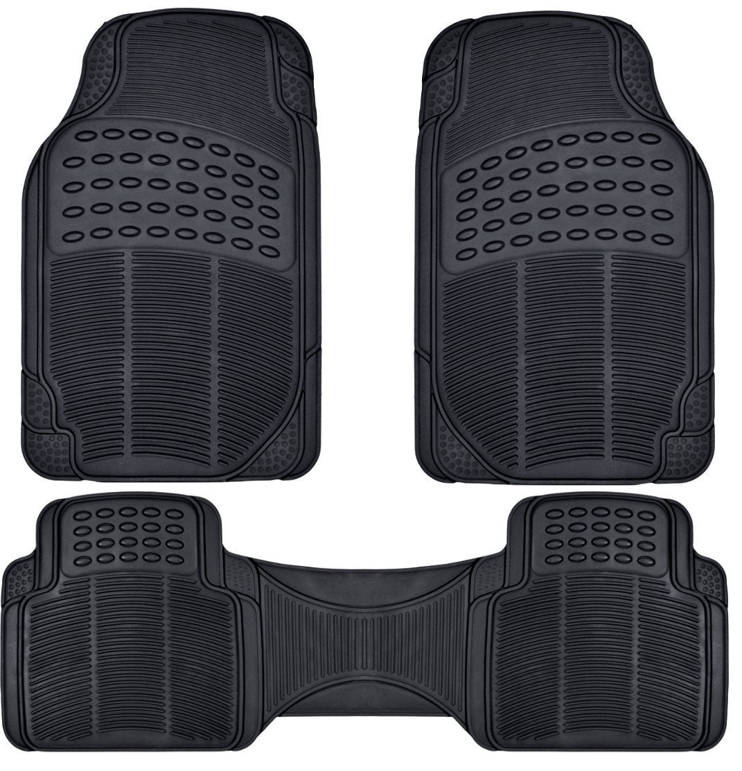 mat floors floor mats universal fit set duty heavy full piece clear rubber gy ridged