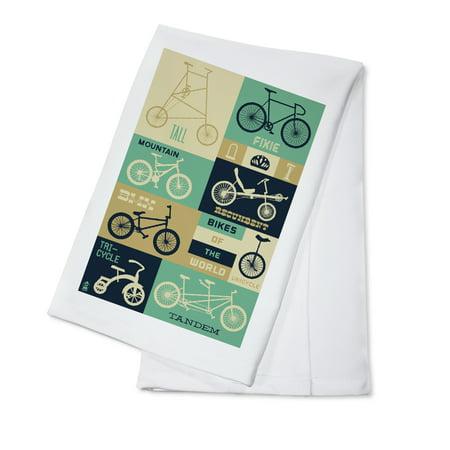 Bicycle of the World - Blues - Lantern Press Artwork (100% Cotton Kitchen - Blues Kitchen Camden Halloween