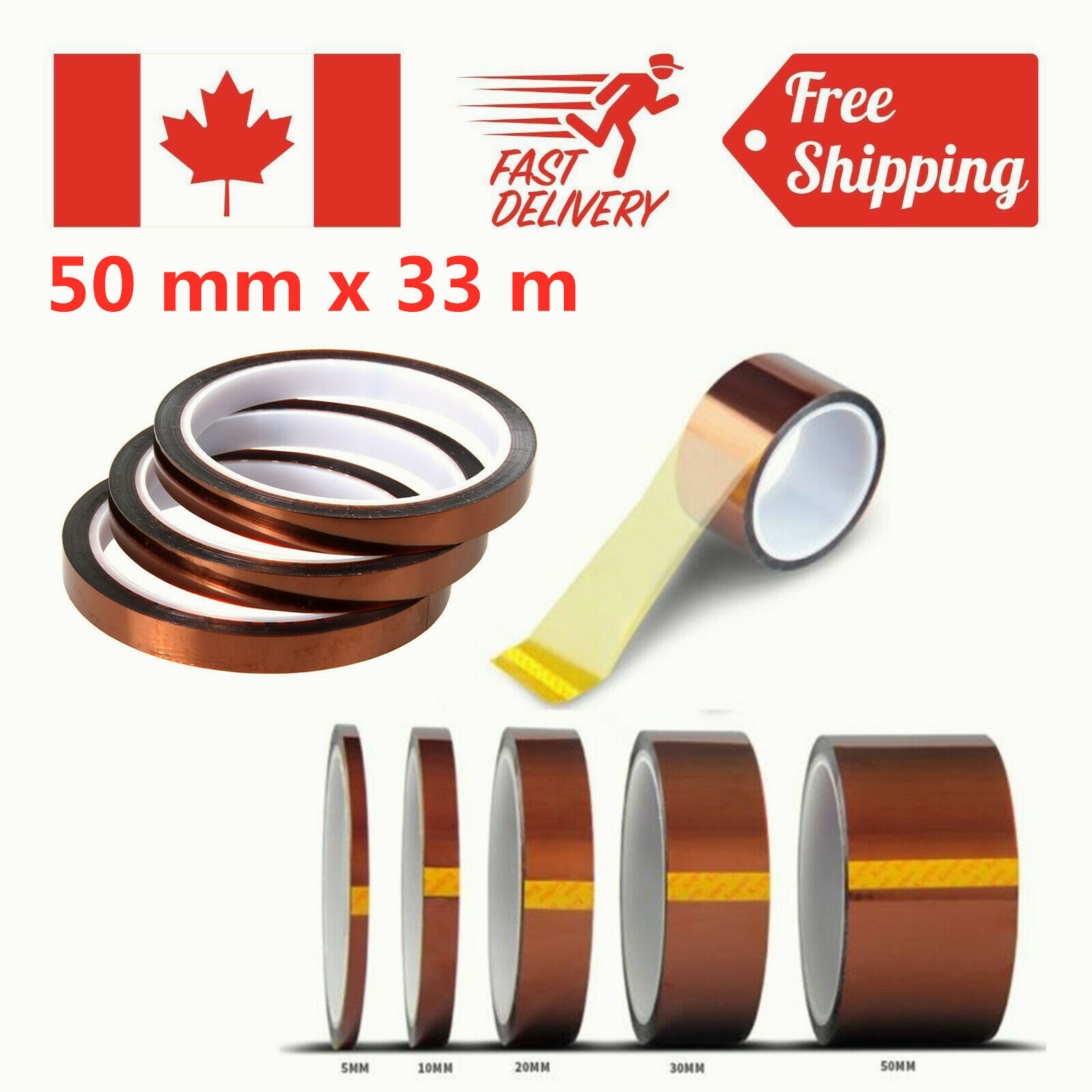 40mm*33m Kapton High temperature heat resistant polyimide tape