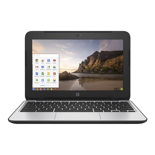 "HP Black 11.6"" Chromebook 11 G4 EE Laptop PC with Intel Celeron N2840 Dual-Core Processor, 2GB Memory, 16GB Solid State Drive and Chrome"