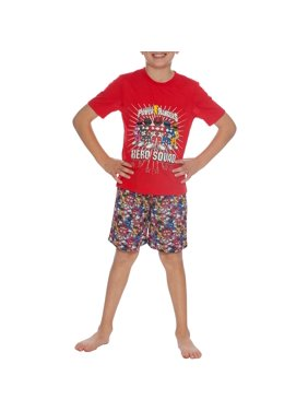 Boys' Hero Squad 2 Piece Pajama Short Set