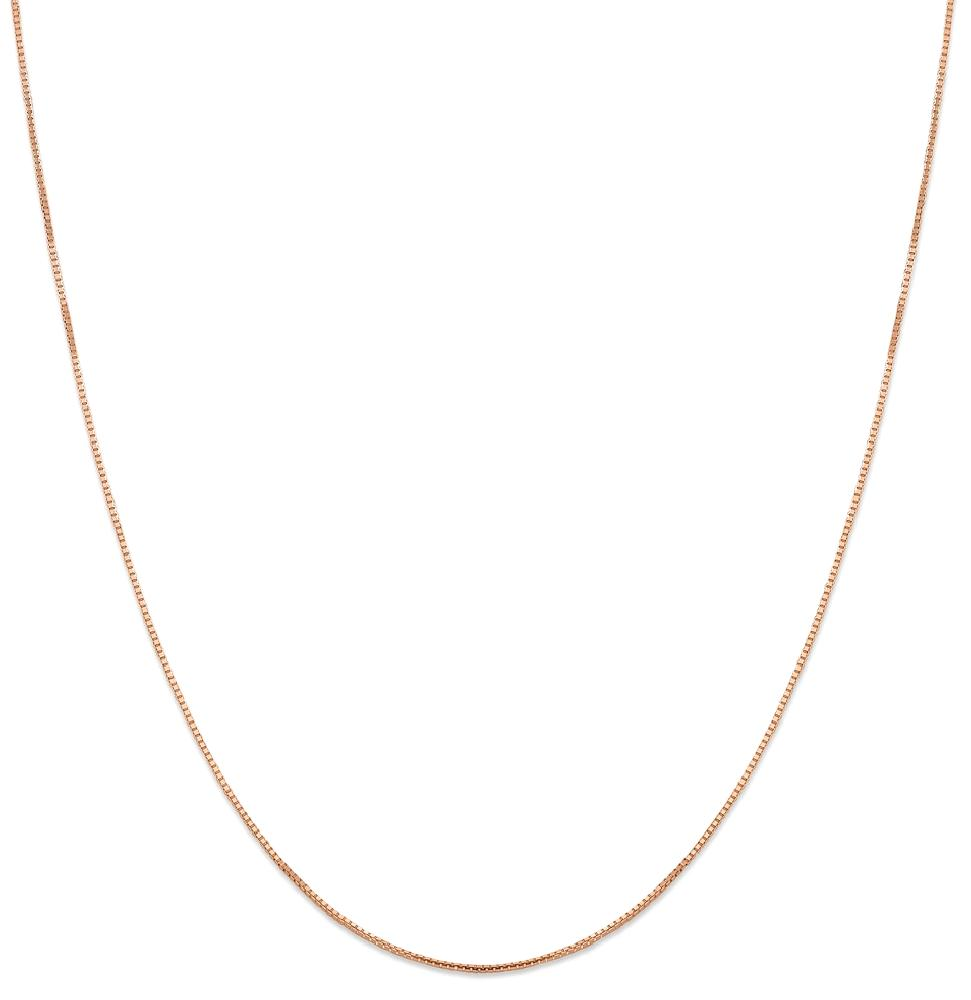 IceCarats 14k Rose Gold 1 Mm Oct. Sparkle Box  Chain Octa...