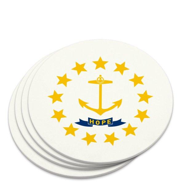 Rhode Island State Flag Novelty Coaster Set