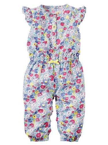 Carters Girls 0-24 Months Floral Jumpsuit