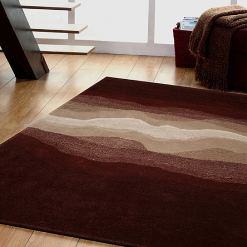 Cosmos Hand-tufted Brown Wool Rug