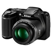 Refurbished Nikon L320 Coolpix 16.1MP Digital Camera with 26x Optical Zoom - BLACK