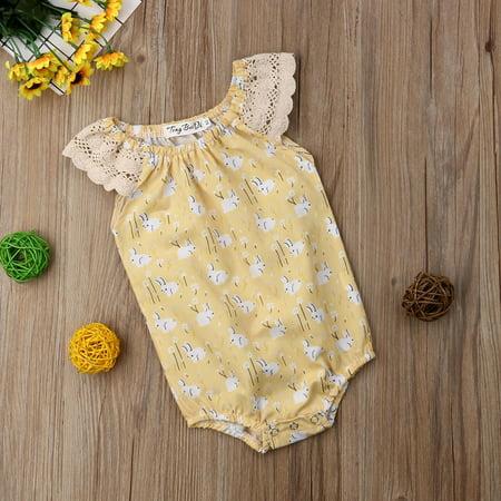 005233301 Easter Newborn Infant Baby Girls Bunny Romper Bodysuit Playsuit Cloths  Outfit - Walmart.com