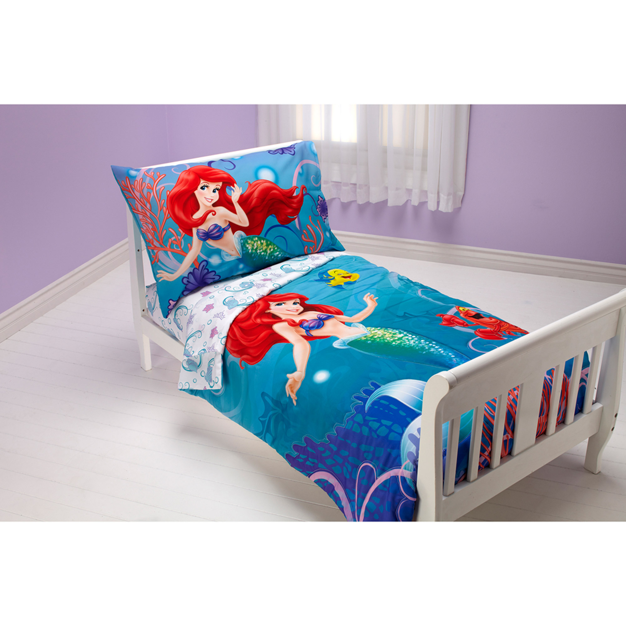 Disney   Little Mermaid  Ocean Princess  4pc Toddler Bedding Set    Walmart com. Disney   Little Mermaid  Ocean Princess  4pc Toddler Bedding Set