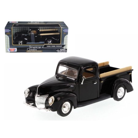 1940 Ford Pickup Truck Black 1/24 Diecast Model Car by Motormax