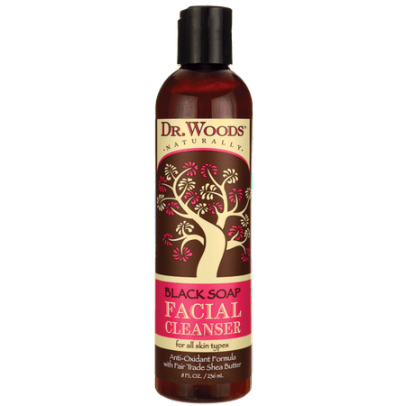 Dr. Woods Black Soap Facial Cleanser with Fair Trade Shea Butter 8 fl oz