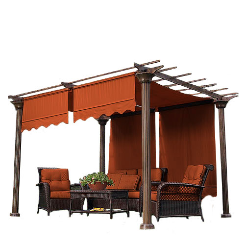 Garden Winds Universal Designer Replacement Pergola Shade Canopy II - Terra Cotta