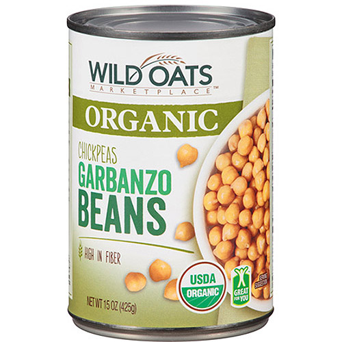 Wild Oats Marketplace Organic Chickpeas Garbanzo Beans, 15 oz