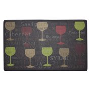 Chef Gear Wine Typography Anti-Fatigue Gelness Comfort Chef Mat