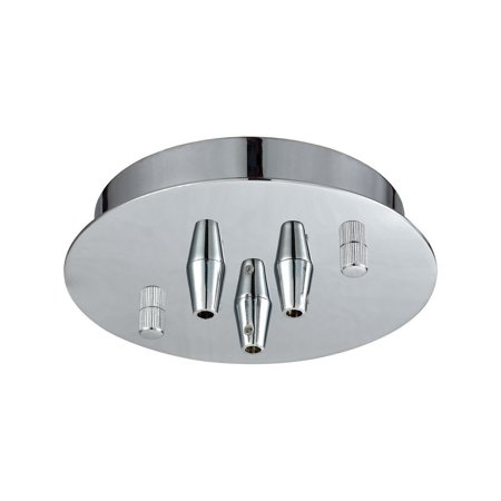 New Product ELK Lighting The Illuminaire Accessories 3 Light Small Round Canopy In Polished Chrome 3SR-CHR Sold By VaasuHomes