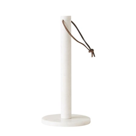 Modern Marble Paper Towel Holder with Leather Tie