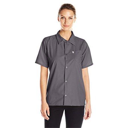 Vtex 0920-6406 Uncommon Threads Womens Utility Shirt 5 Button, Slate - 2XL - image 1 de 1