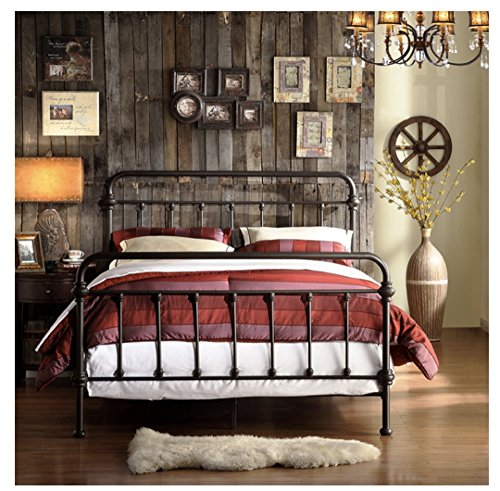 Tribecca Home Wrought Iron Bed Frame Dark Bronze Metal Queen Size Usa Vintage Look Shabby Chic French Country Queen Walmart Canada