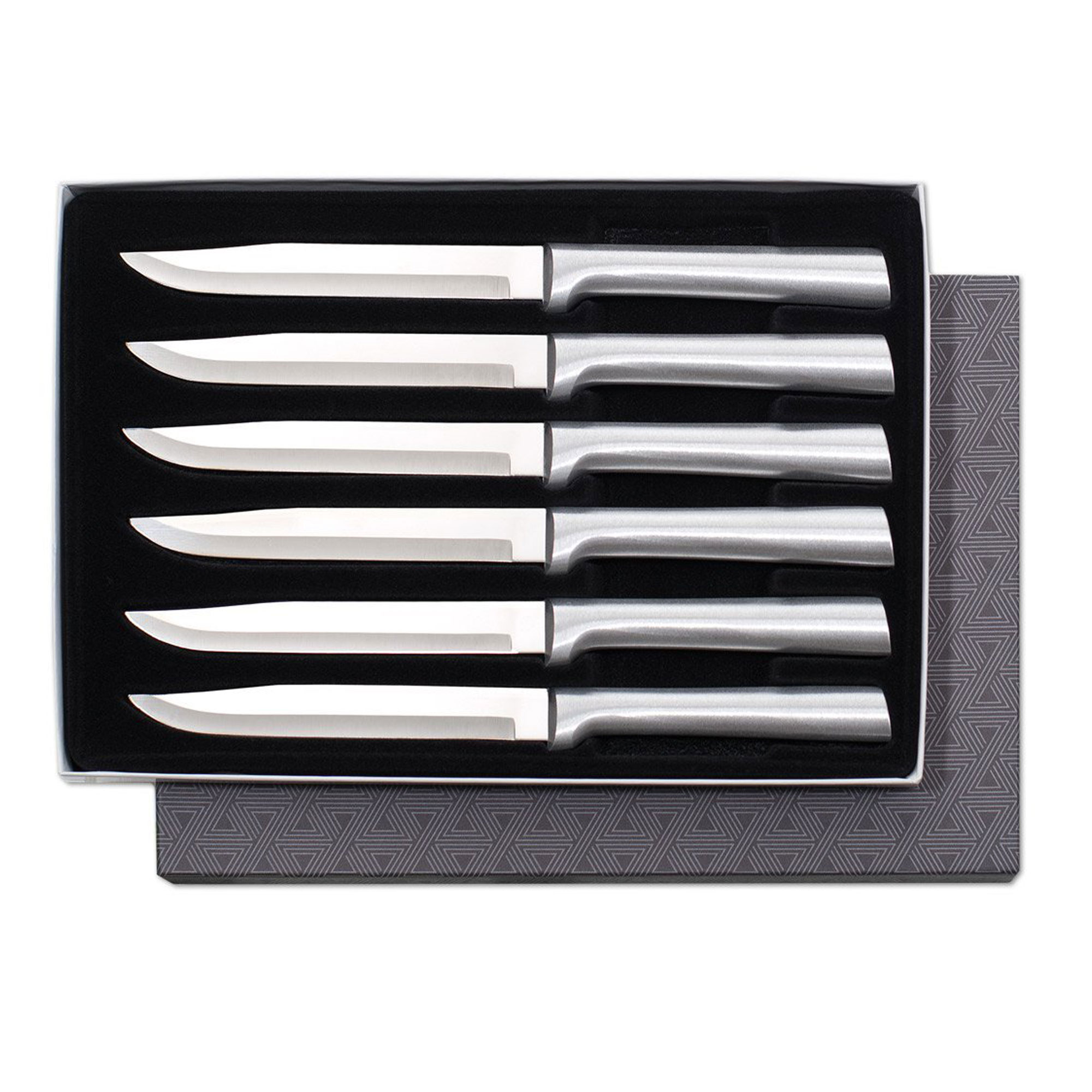 Rada Cutlery Utility Steak Knives Gift Set – Stainless Steel Blades With Aluminum Handles, Set of 6