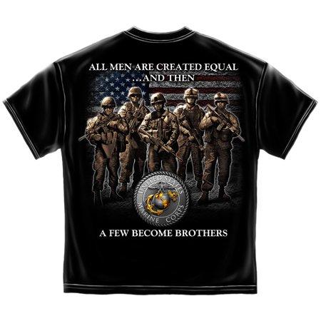 Marine Corps Tank - USMC Marine Corps Brotherhood Marine Corps T-Shirt BLACK X-LARGE