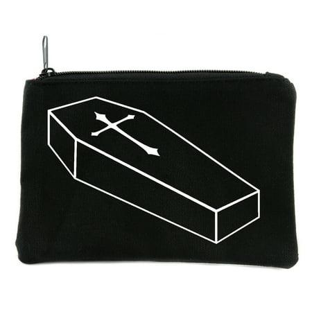 Voodoo Coffin with Cross Cosmetic Makeup Bag Pouch - Voodoo Makeup